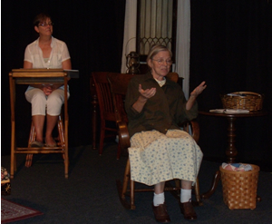 Kathie Dice and Anne McEvoy in Trail Magic
