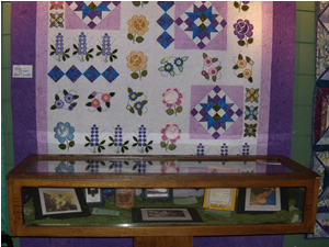 Quilt Display by the Lorain County Piecemakers